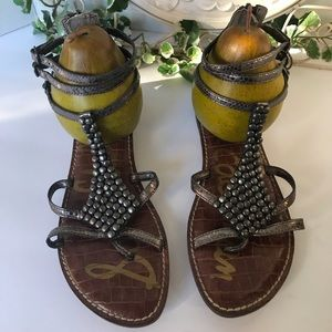Sam Edelman Metallic Leather Sandals